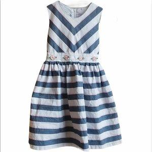 Bonnie Jean sleeveless dress w/flower embroidery